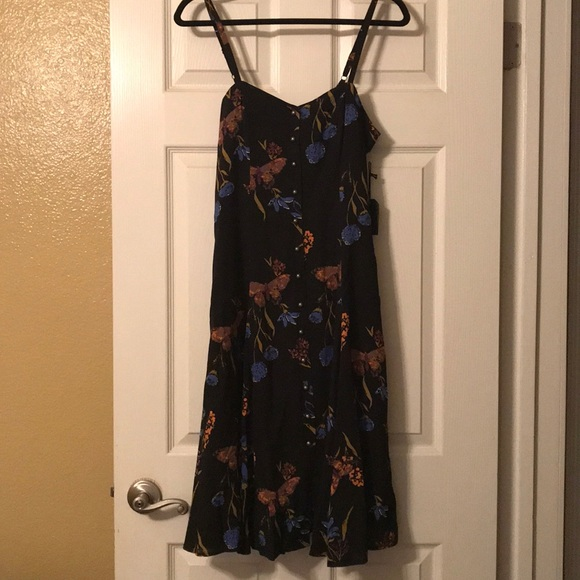0f46f56e07 Forever 21 Dresses | Butterfly And Flower Fit Flare Dress | Poshmark